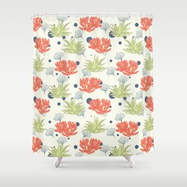 Succulent Pattern. no1 Shower Curtain