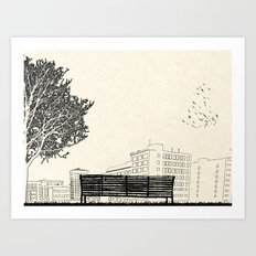 Tom's Favourite Spot — Angels Knoll Park, LA — (500) Days of Summer Art Print