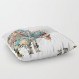into the wild the buffalo Floor Pillow