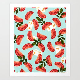 Caprese #society6 #decor #pattern Art Print