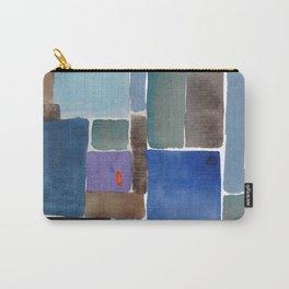 Blue squares, carrés bleus Carry-All Pouch