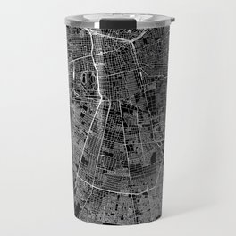 Santiago Black Map Travel Mug