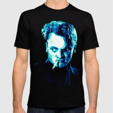 James Cagney, blue Madness. Mens Fitted Tee Black LARGE