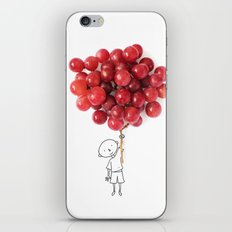 Boy with grapes - NatGeo version iPhone & iPod Skin