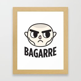 BAGARRE Framed Art Print
