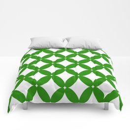 Abstract pattern - green and white. Comforters