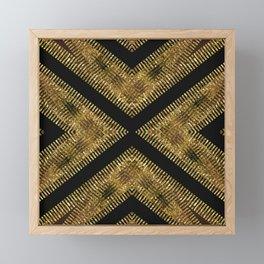 Black Gold | Tribal Geometric Framed Mini Art Print