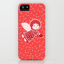 Angels on the red iPhone Case