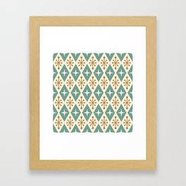 Mid Century Modern Atomic Triangle Pattern 102 Framed Art Print