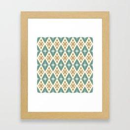 Mid Century Modern Atomic Triangle Pattern 102 Framed Art Print