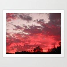 Bloody sunset Art Print