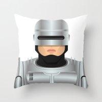 robocop Throw Pillows featuring Robocop by Capitoni
