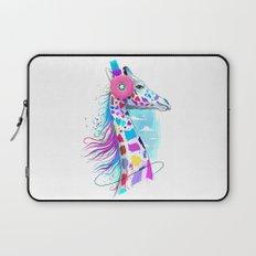giraffe the headphones of donuts Laptop Sleeve