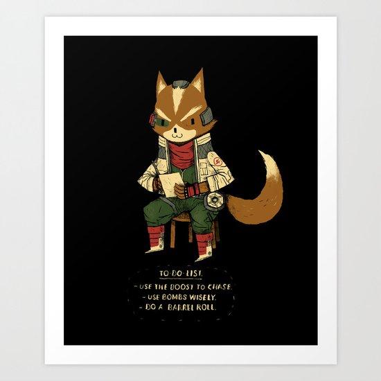 fox to-do-list Art Print