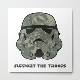 Support the Troops Metal Print