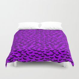 Bats in the Belfry-Purple Duvet Cover