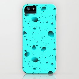 Large heavenly drops and petals on a light background in mother of pearl. iPhone Case