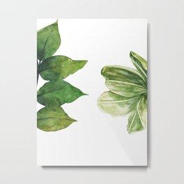 Minimalista floral Metal Print