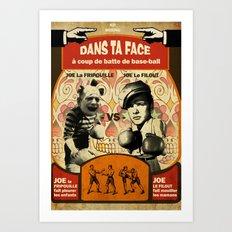 Boxe Art Print
