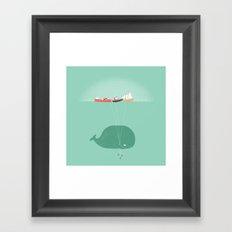 Whale Balloons  Framed Art Print