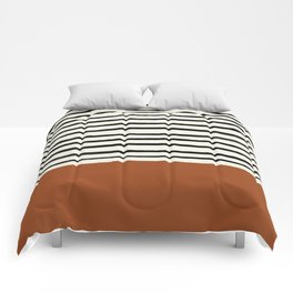 Burnt Orange x Stripes Comforters