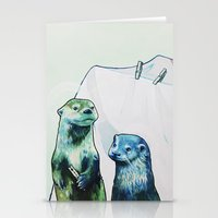 otters Stationery Cards featuring Otters' Endeavors by Sarah Bear