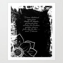 Arthur Rimbaud - I Dance - Phrases Art Print
