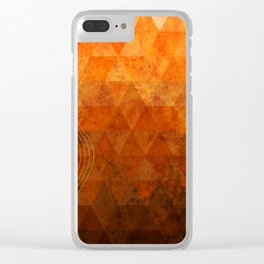 Orange triangles gradient pattern Clear iPhone Case