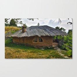Clay House in Leshten, Bulgaria Canvas Print