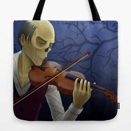 Erik playing the violin Tote Bag