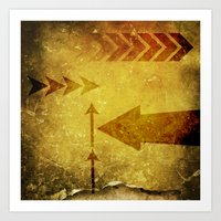 arrows Art Prints featuring Arrows by Leah M. Gunther Photography & Design