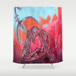 Scorpio | Yoga Art Shower Curtain