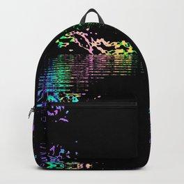 Black Rainbow Digital Fun Print Backpack