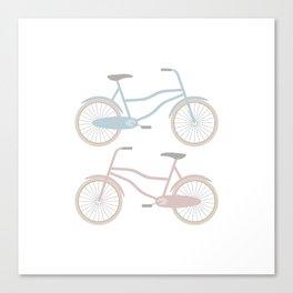 Vintage Bicycle Pattern Canvas Print