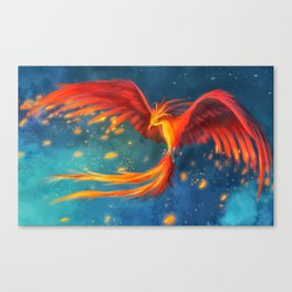 Beautiful phoenix Canvas Print