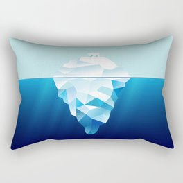 Ice Burg And Polar Bear Rectangular Pillow
