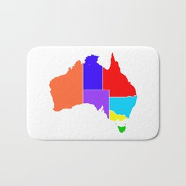 Australia States In Colour Silhouette Bath Mat