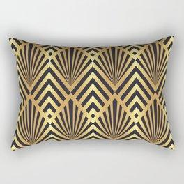 Gold diamond fans art deco design Rectangular Pillow