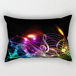 Music Notes in Color Rectangular Pillow