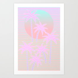 Hello Miami Sunrise Art Print