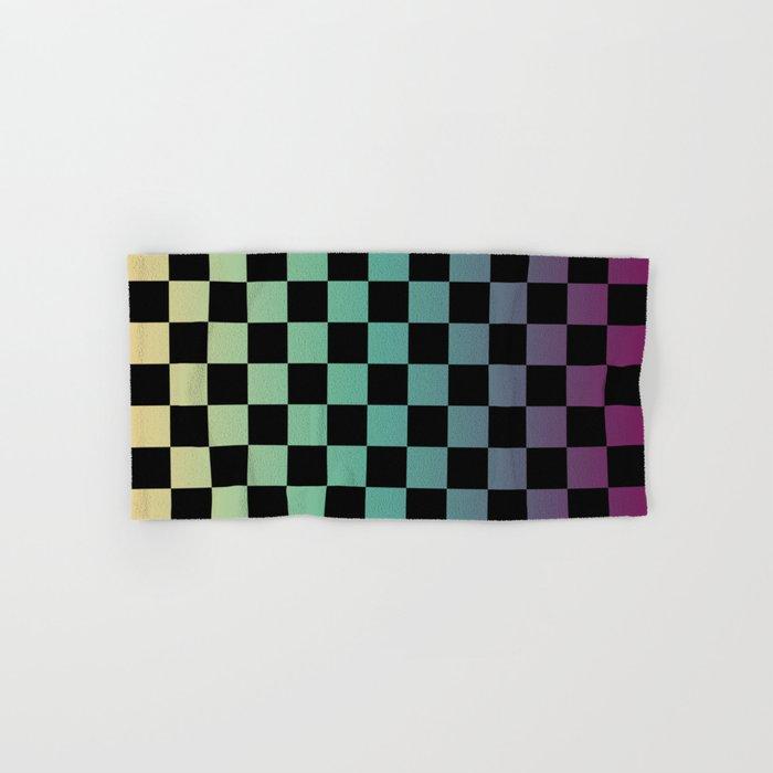 Color Gradient Checker Pattern Hand & Bath Towel
