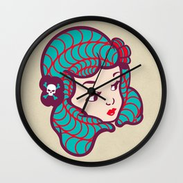 Girl Power Dynamite Laser Beam Wall Clock