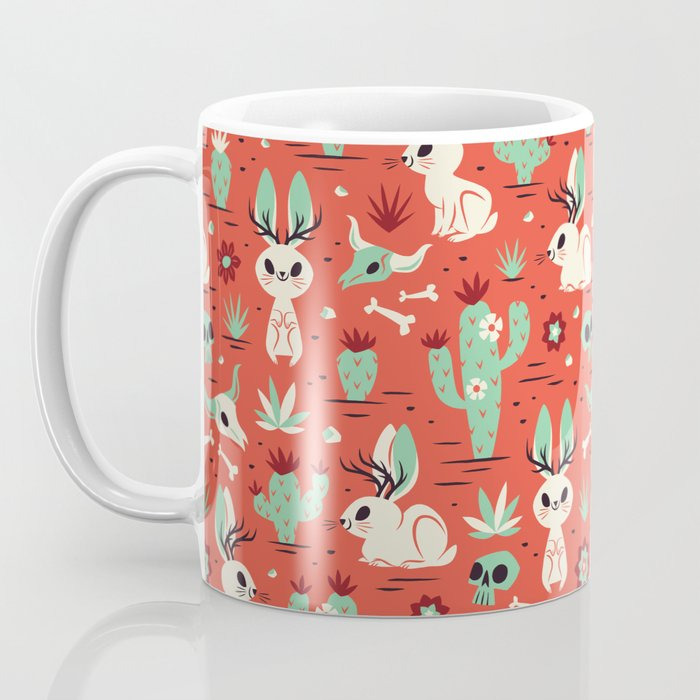 Cryptid Cuties: The Jackalope Coffee Mug by therewillbecute | Society6