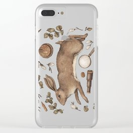 Rabbit's Garden Collection Clear iPhone Case