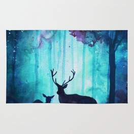 Mother and Baby Stags Rug