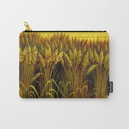 Classical Masterpiece 'Wheat' by Thomas Hart Benton Carry-All Pouch