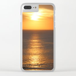 Sunset Surfers in Uluwatu Clear iPhone Case