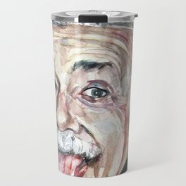 ALBERT EINSTEIN - watercolor portrait Travel Mug