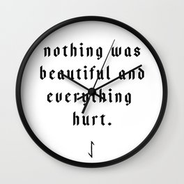 The Pessimist Wall Clock