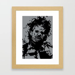 August 18, 1973: Bloodstain Leatherface (color combination F) Framed Art Print